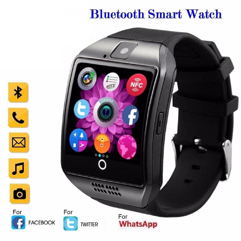 Fitness Smart Uhr Q18 Frauen Männer Sport Schrittzähler Bluetooth Laufende Smartwatch Intelligente Uhr Mit Touchscreen Große Batterie