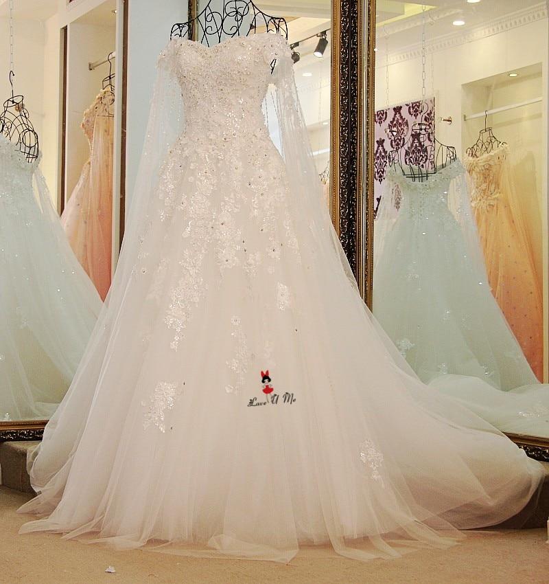 Vestido de Casamento Weiß Blau Vintage Hochzeit Kleid Mit Umhang ...