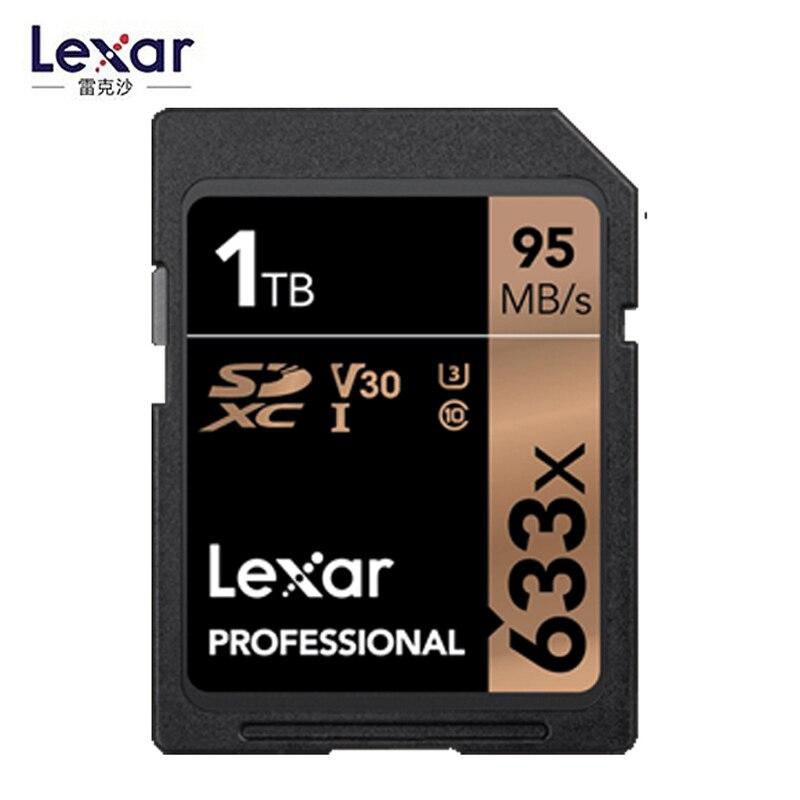 Lexar Professional cartes 633x128 GB 256 GB SDXC UHS-I SD carte 1 TB 512 GB Haute Capacité Mémoire carte