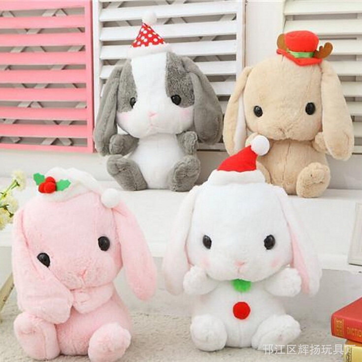 16''40cm New Japan Amuse Rabbit Doll Plush Toy Cute Lop Rabbit Bugs Bunny Doll Christmas Style Nice Gift Girls Dolls Baby Toy 60cm new queen couple rabbit plush toy of peter rabbit doll wearing glasses rabbit doll valentine s day gift