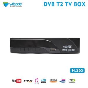 Image 1 - Vmade 디지털 디코더 DVB T2 수신기 H.265 HEVC HD 지상파 TV 수신기는 Youtube DVB T 튜너 MPEG 4 셋톱 TV 박스를 지원합니다