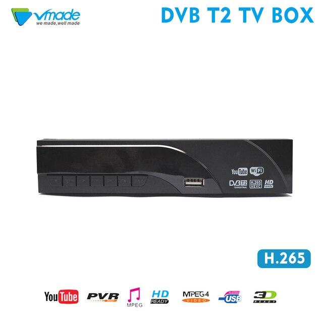 Vmade 디지털 디코더 DVB T2 수신기 H.265 HEVC HD 지상파 TV 수신기는 Youtube DVB T 튜너 MPEG 4 셋톱 TV 박스를 지원합니다