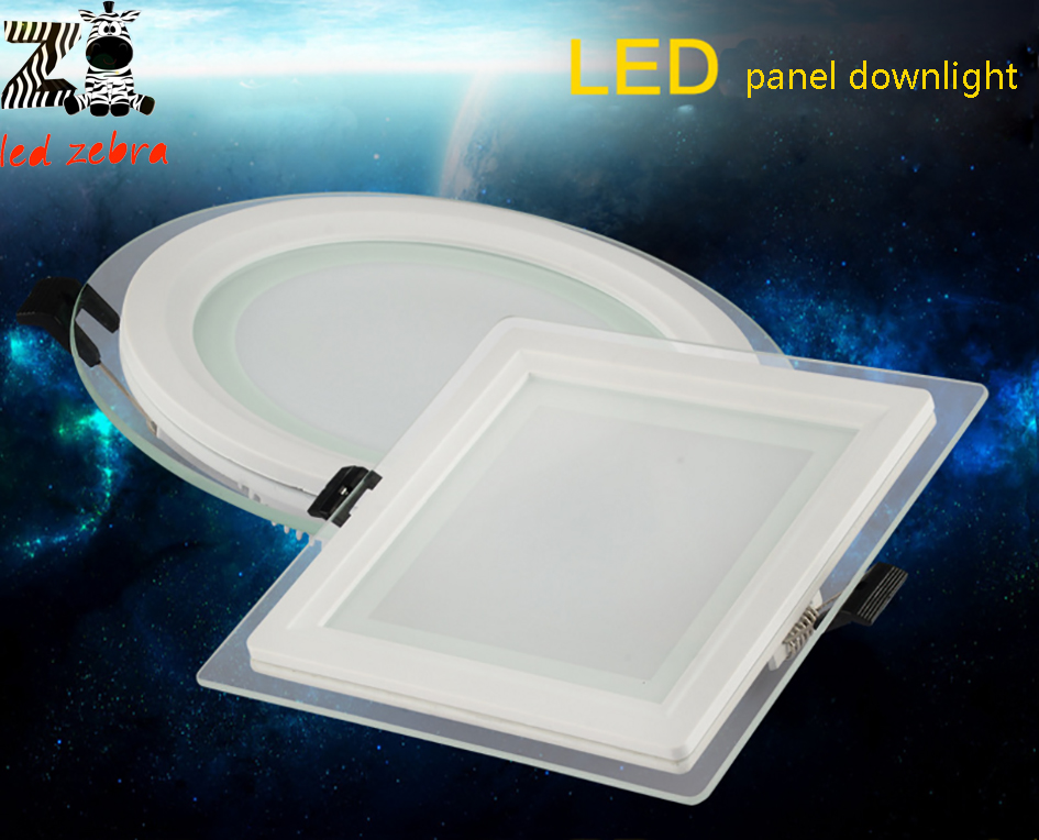 Dimmable 6w 12w 18w led panel downlight,round/square led ceiling recessed lamps,5730smd led panel lights AC85-265V