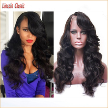New 7a Grade Wonderful Wavy Body Wave Lace Wig Full Lace Brazilian Virgin Human font b