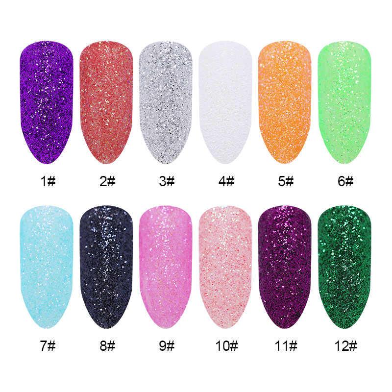 20/5g เงาเล็บเลเซอร์ Glitter Shimmer Nail Art อุปกรณ์ตกแต่ง
