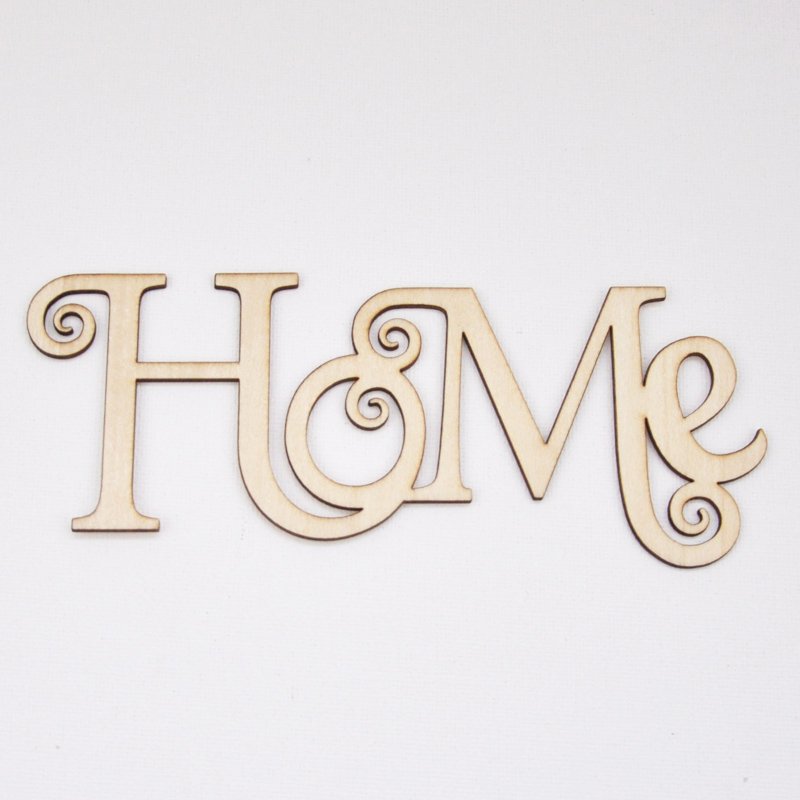 12pcs Lot Home Wood Word New Year Decoration Craft Great Gifts For Home Decor Creative Thick