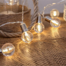 3.0M 20 Led Wedding String Fairy Light Christmas LED Globe Festoon Bulb Led Fairy String Light Outdoor Party Garden Garland Lamp
