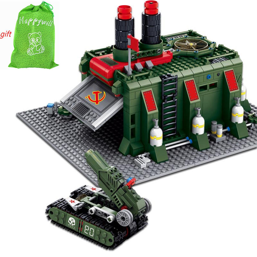 Happywill 81008 794Pcs Red Alert 3 War Factory Building Blocks DIY Action Figure Bricks Assembled Educational Toys for children kazi war factory red alert 3 army tank toy educational building bricks blocks plastic model kits set gift toys for children diy