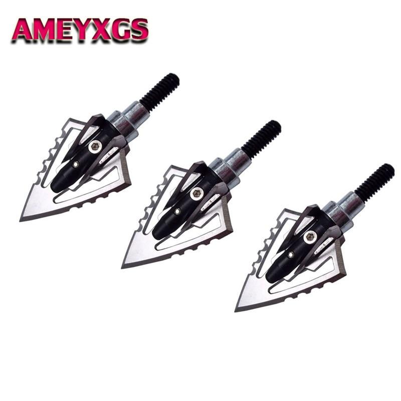 120 Grain 6pcs 3 Blade Broadheads Hunting Arrowheads Archery Crossbow Shooting