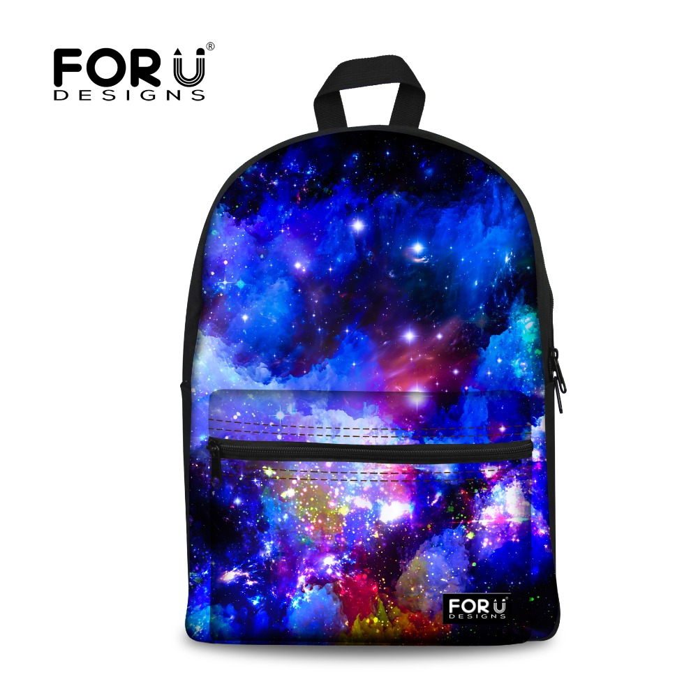 FORUDESIGNS 3D Galaxy Campus Boys Backpack Teenagers Men Canvas Men's Travel Bag Laptop Bagpack Children Mochila - Stylish Apparel Store store