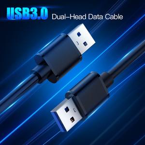 Image 2 - USB to USB Fast Data Cable Male to Male USB 3.0 Extension Cable for Radiator Hard Disk USB 3.0 Data Transfer Cable Extender
