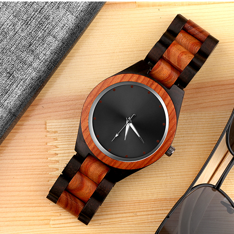 Luxury Wood Watch Unique Wooden Watches Fashion Creative Men's Watch Men Watch Clock reloj madera relogio masculino montre homme 7 types hollow dial wooden watch creative natural whole wood adjustable band men s sport casual dress hour clock reloj de madera