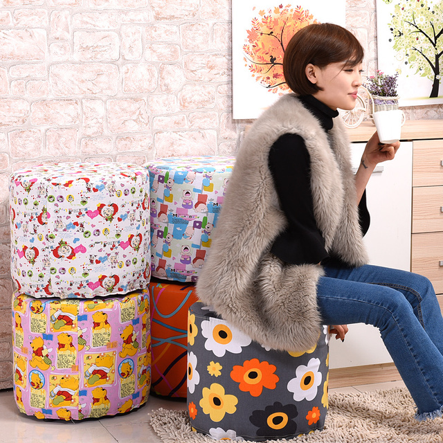 Promotion  wooden high quality  modern fashion washable stool sofa  shoes stool outdoor stool free shipping