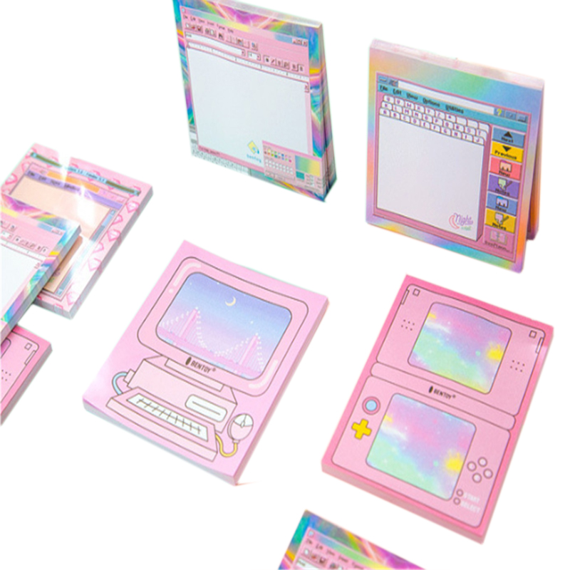 10packs lot New Computer Game Shape Paper DIY Self Adhesive Memo Pad Diary Sticky Notes Office School Supplie Wholesale in Memo Pads from Office School Supplies