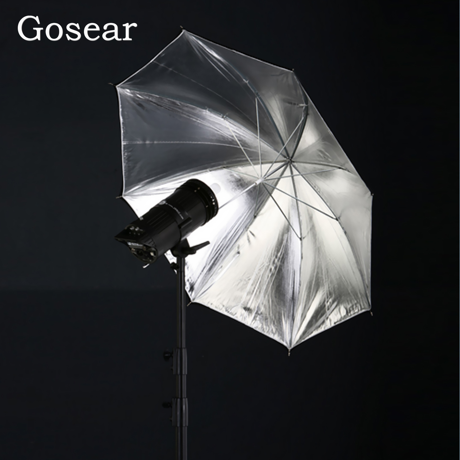 Gosear 85cm Photography Diffuser Double Layer Black And Silver Photo Studio Reflector flash Soft Umbrella Accessories enlarge