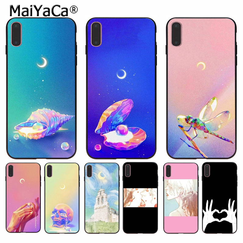1 Maiyaca Moon Girl Soft Rubber Phone Case For Iphone 8 7 6 6s Plus 5 5s Se Xr X Xs Max Coque Shell