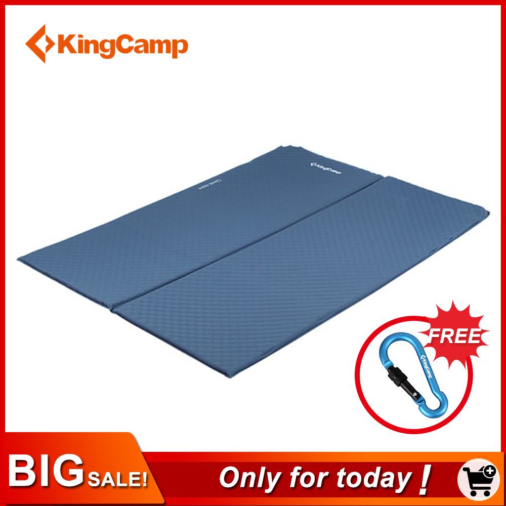 KingCamp Sleeping Pad Classic Double Self-Inflating Sleeping Mats for Hiking Outdoor Camping Mattress Pad for Traveling Trekking цены онлайн
