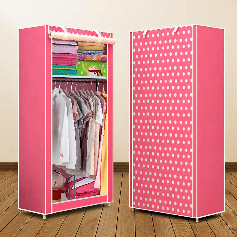 Простой небольшой шкаф Actionclub, складной шкаф для хранения одежды, экономичный шкаф для студенческого общежития, нетканый Тканевый шкаф