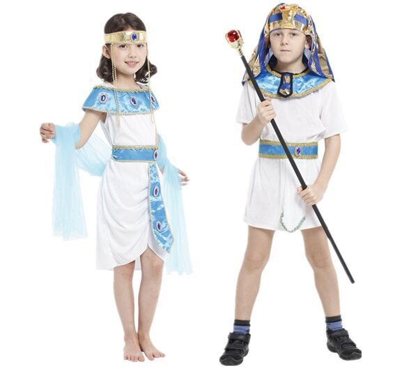 cosplay Halloween Children's Egyptian Little Prince Clothing Egyptian Princess Queen Prince's Parent-child Clothing