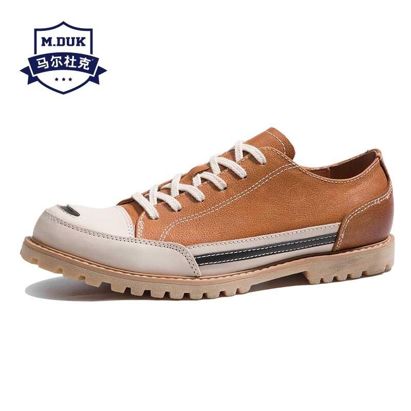Wiosna lato nowy prawdziwej skóry mężczyzna buty w stylu casual brytyjski buty jeździeckie męskie cały mecz skóry wołowej oddychające sneaker mody męskiej w Męskie nieformalne buty od Buty na  Grupa 1