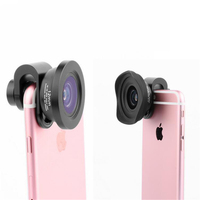 4K HD Clip on Phone Lens For iPhone Apple Wide angle Full Screen Optical Glass Camera Lenses For xiaomi HTC Sony