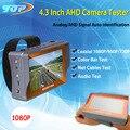 4.3 polegada TFT LCD COR DO MONITOR de Dois em Um CVBS Analógico 1080 p ahd câmera de segurança cctv tester com cabo de rede teste freeshipping