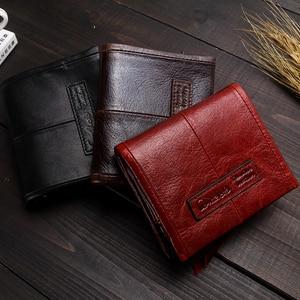 Image 5 - CONTACTS portefeuille homme en cuir véritable hommes portefeuilles marque de luxe porte carte mode porte monnaie organisateur petits portefeuilles hommes Walet
