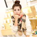 Luna&Dolphin Luxury Brand185x90cm Women Scarves Big Plaid Fur Shawl Nature Rabbit Hair Ball Decorate Blanket Scarves Pashmina