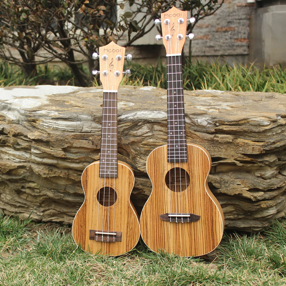 23 Inch Concert Ukelele Hawaii Mini Guitar Uke Brazil Zebrawood Ukulele Rosewood Fingerboard 4 Strings Musical Instrumen Ukulele