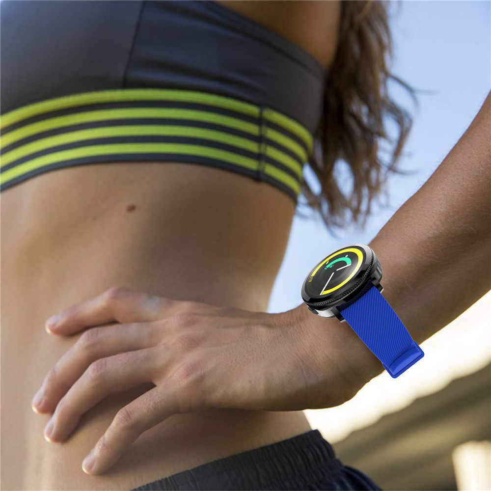 20mm רך סיליקון רצועת יד עבור Huami Amazfit ביפ נוער יד צמיד עבור Garmin Vivoactive 3 רצועת השעון עבור Samsung הילוך S2