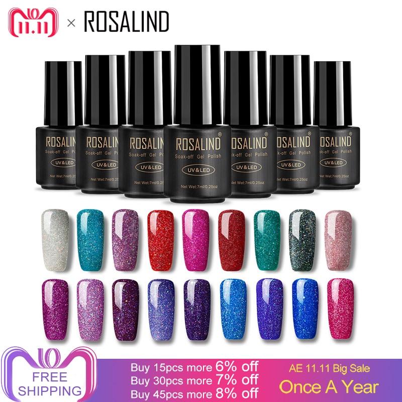 ROSALIND Nails rainbow 7ML uv led nail polish Can Be Soak Off Nail Polish Nail Art UV&LED Polish Varnish