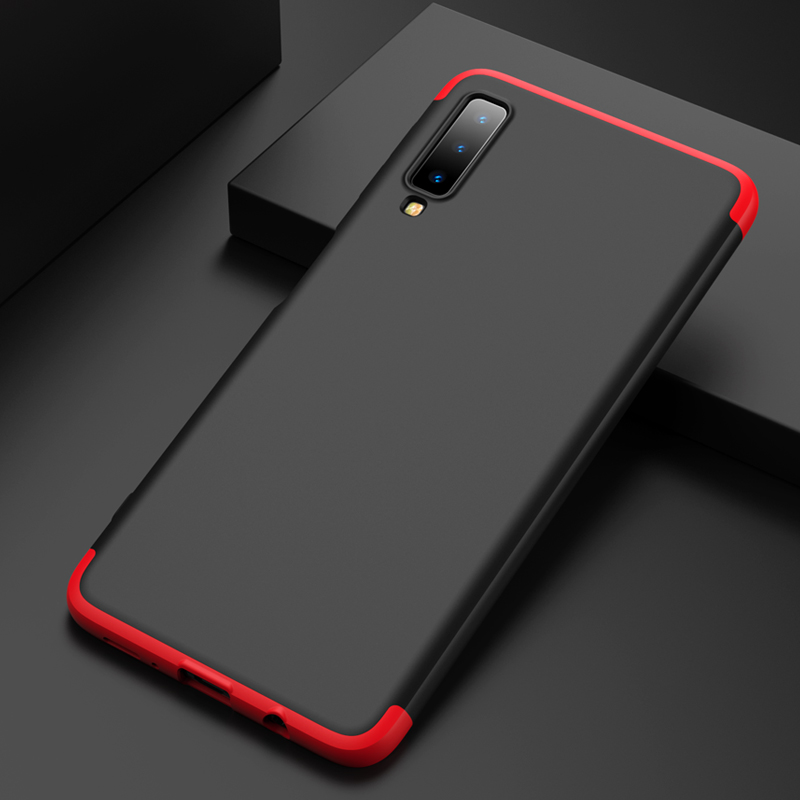 wholesale dealer fbcde 02b87 US $4.99  Aliexpress.com : Buy For Samsung Galaxy A7 2018 Case 360 Full  Protection Triple Camera Ultra Thin Hard PC Shell sFor Samsung A7 2018 A750  ...
