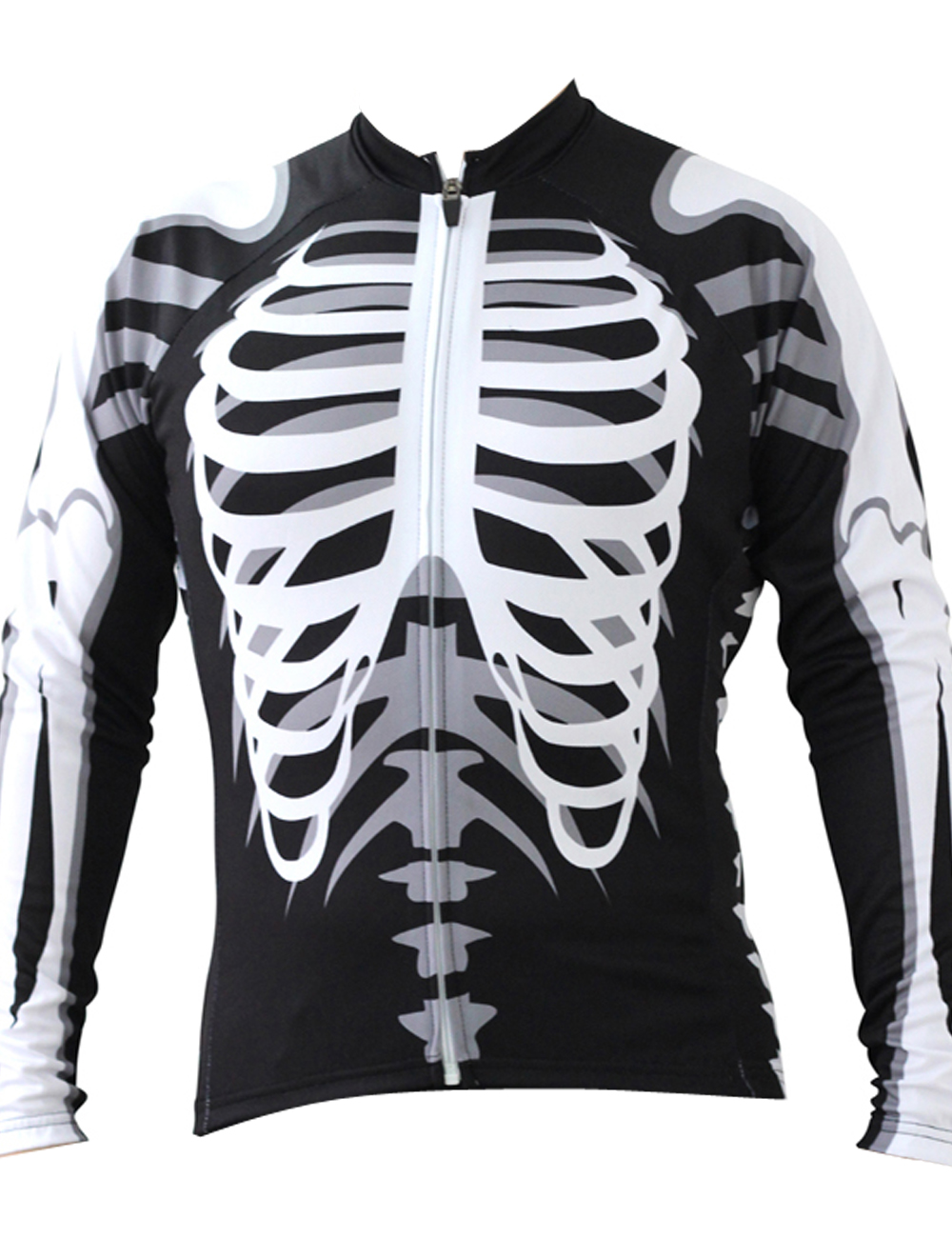 Skeleton Alien SportsWear Mens Long Sleeve Cycling Jersey Cycling Clothing  Bike Shirt Size 2XS To 6XL 9d8b38994