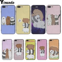 Yinuoda Bearstack Newest Super Cute Silicone Phone Cases For iphone 5 5s SE 6s 6 7 8plus 8 X XS XR XSMAX  Cover cases