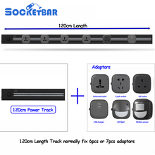 Hot Socketbar 4000W 120cm Tomada Usb Stopcontact Eu Wall Plug 2 USB Ports Office Living Room