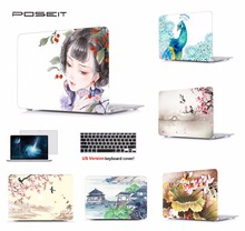 Print Laptop Protective Hard Shell Case Keyboard Cover Skin Set Pouch Fit 11 12 13 15″Apple Macbook Air Pro Retina Touch Bar SS