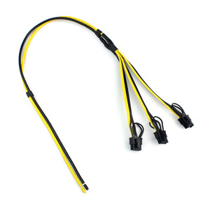 Image 2 - 5pcs Power Video Card Cable Mine Machine Adapter Cable 3x (6 +2) Pin Line, The Main Line 12AWG + Sub Line 18AWG Mining Wire