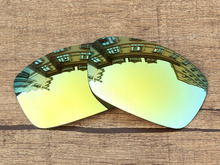 Polycarbonate 24K Golden Mirror Replacement Lenses For Hijinx Sunglasses Frame 100 UVA UVB Protection
