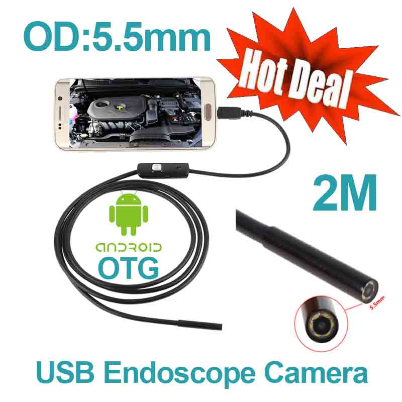store product Android USB Endoscope  mm Snake Tube Waterproof Camera M Mini
