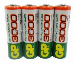 Brand New 4pcs/Lot GP 1.2V NiMh AA 3000  Battery Rechargeable AA ni-mh Batteries pilas recargables Batteria free shipping