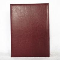 A3 6K Customize Logo Blank Certificate Cover Completion Appointment Sigh Book Imitation Leather Golden Foil Gold