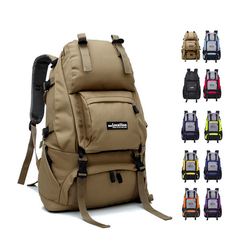 Outdoor travel mountaineering shoulders package female travel bag computer backpack male 40 liters of luggage 75l external frame support outdoor backpack mountaineering bag backpack men and women travel backpack a4809