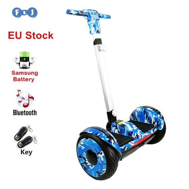 FLJ Новый 10,5 дюймовый Ховерборд с светодиодный Ручка балансируя баланс самокат детское A8 10 дюймовый Ховерборд 2018 Электрический скутер