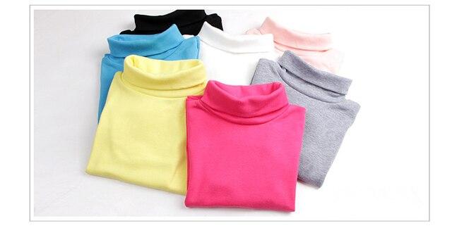 Ребенок зимой плюс бархат основной рубашка мужской женский ребенок 100% хлопок утолщение футболка ребенок 100% хлопок комфортно водолазка