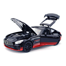 1:32 Alloy Benz AMG GT R Diecast Supercar Model Pull Back With Sound Light Vehicles Car Models Toys For Children Birthday Gifts(China)