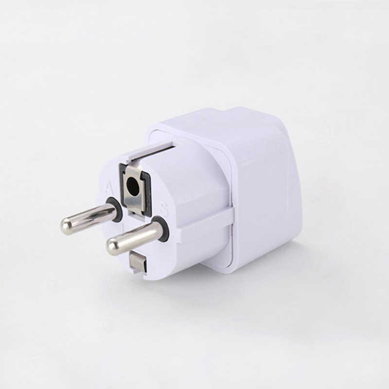 1 Pc 10A 110V-250V UK US AU To EU AC Plugs Travel Electronic Equipment Adapter Power Plug for Smartphone Tablet PC Camera