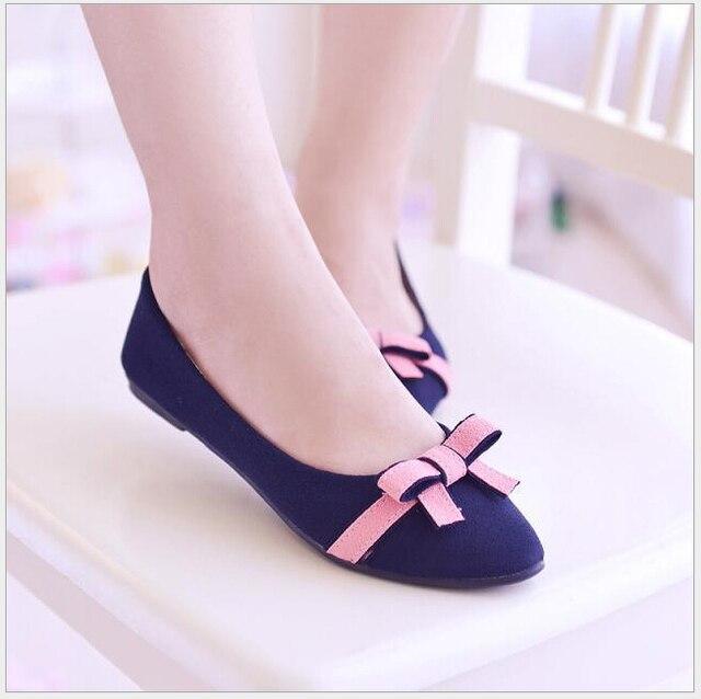 size 35-40.New 2017 Spring vintage women flats sweet bowtie flat shoes woman fashion ballet flats summer women sandals