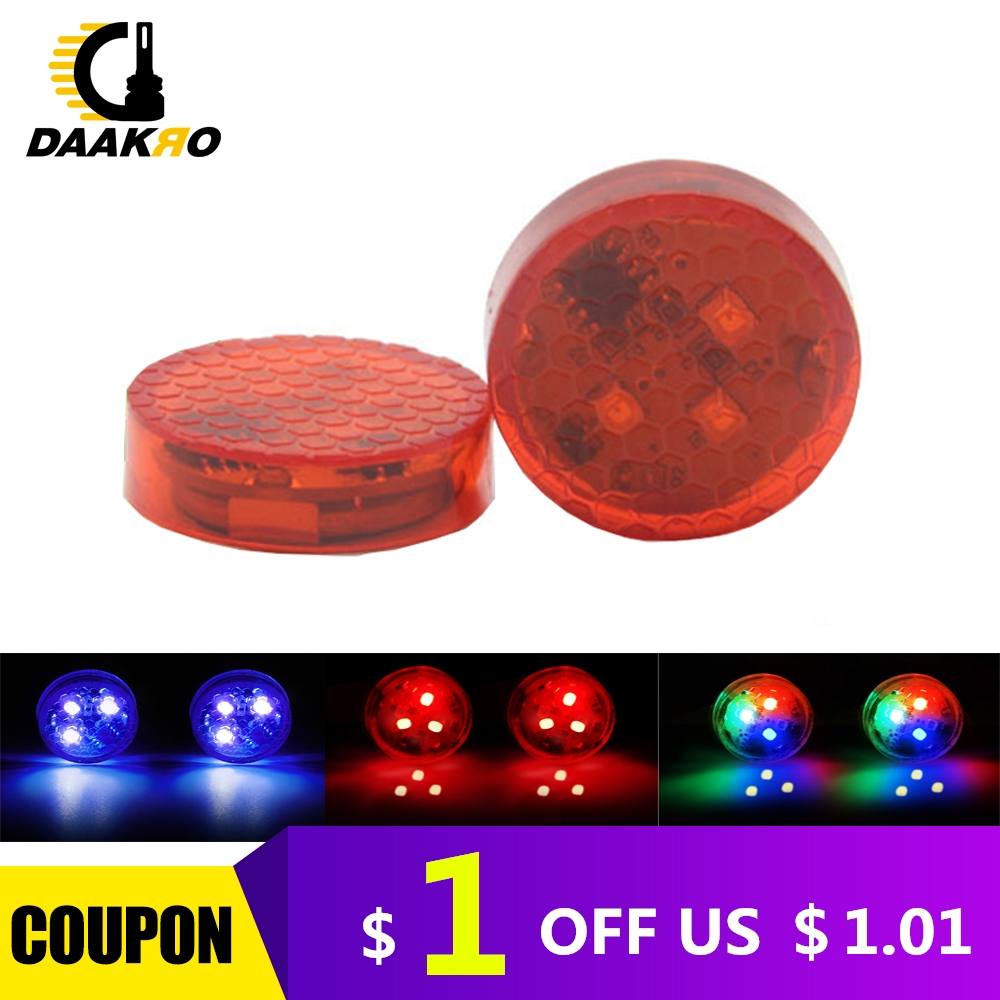 2PCS Universal Car Door 3 LED Opened Warning Flash Light Kit Wireless Anti-collid Lamp Rapid Flash Red/Blue/Colorful Multi Color