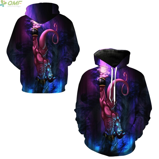 Original Buu Majin imprimir sudaderas con capucha prendas de vestir  exteriores sudadera Dragon Ball Z Buu 4832899f00a