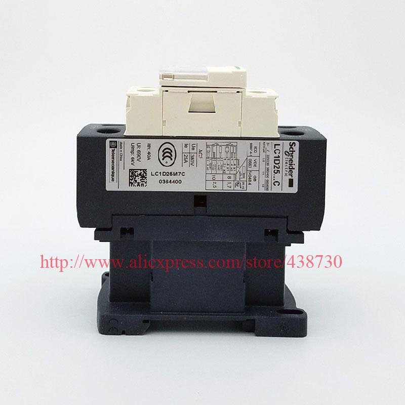 HTB1JfKaQVXXXXXtaXXXq6xXFXXXM - 1pcs AC contactor LC1-D25M7C LC1D25M7C AC220V 24V110V 380V free shipping